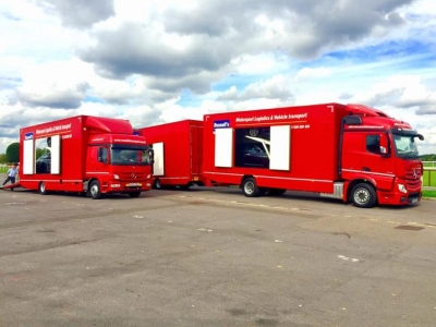 Russells Transport deliver 6 Luxury Masarati Ghibli and Quattroporte Diesel Kempton Racetrack for ProDriver LIVE meeting 14 to15.9.15