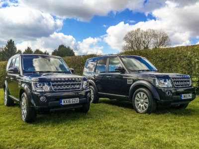 2 brand new Land Rover Discoverys for Russells Transport Fleet