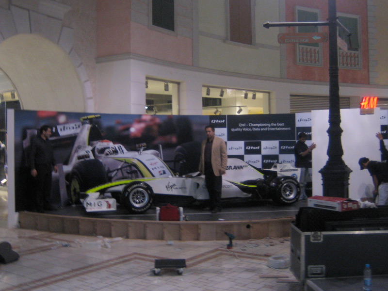 Brawn GP F Show Car To Doha Qatar And Russells Transport Covered - Show car transport